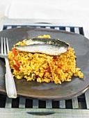 Reis mit Paprika und Sardinen (Spanien)