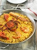 Arroz de marisco (seafood paella, Spain)