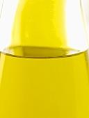A bottle of olive oil (close-up)