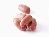 Several red potatoes
