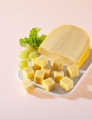 Gouda, partially diced