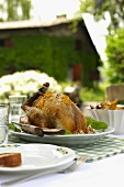 Faraona all'arancia (guinea fowl with orange zest, Italy)