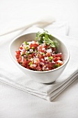 Pico de gallo with tomatoes and onions