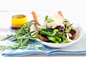 Bean salad with Parmesan