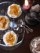Spiced pavlova with quince compote