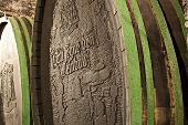 A barrel of wine at the Seggau Castle vineyard (Steiermark, Austria)