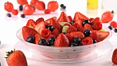 Fresh berries and berry salad