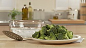 Blanching broccoli (German Voice Over)