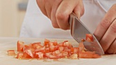 Dicing tomatoes
