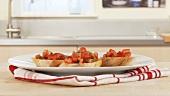 Bruschetta (Röstbrot mit Tomaten, Italien)
