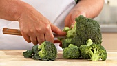 Broccoli being broken into florets (English Voice Over)