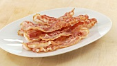 Crispy fried bacon slices