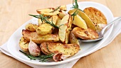 Rosemary potatoes being prepared (English Voice Over)