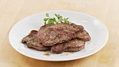 Fried veal escalope