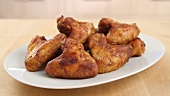 Chicken wings being prepared (English Voice Over)