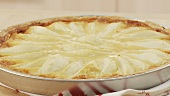 A pear tart being made (English Voice Over)