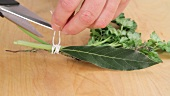 Making bouquet garni (German Voice Over)