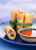 Spring roll with bean filling