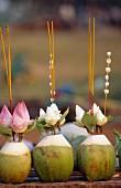 Ritual offerings, Phnom Penh, Cambodia