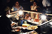 People at a food stall, Galle Face Green, Colombo, Sri Lanka