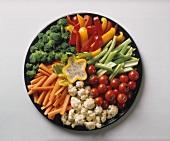 Raw Vegetable Platter; Poppy Seed Dip