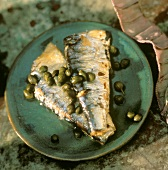 Sarde ai capperi (Sardines with capers, Italy)