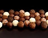 Assortment of Gourmet Chocolate Truffles