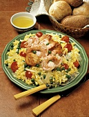 Seafood on Yellow Rice with Vegetables