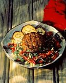 Sonoma Lamb Burger with Salad