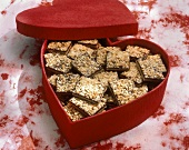 Chocolate Almond Shortbread for Valentines Day