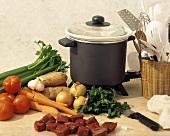 Zutaten für Rindfleisch-Gemüse-Eintopf