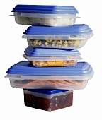 A Stack of Tupperware Food Containers