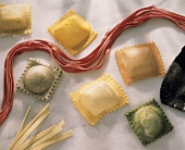 Variety of fresh Ravioli & Linguini