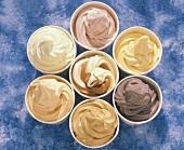 Different Flavored Frozen Yogurt