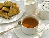 Hot Tea and Rosemary Scones