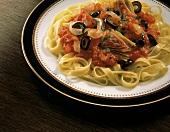 Fettucine with Tomato Artichoke Sauce