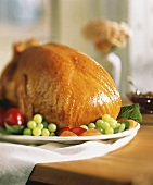 Roasted Turkey with Fruit Garnish