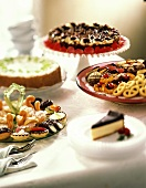 Dessert Assortment with Cheesecakes and Tea Cookies