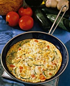 Fritata with Zucchini and Tomato