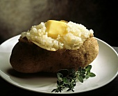 Steaming Baked Potato with Melting Butter