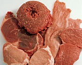 Assorted Raw Meat Still Life