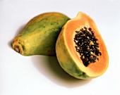 Whole Papaya with Half a Papaya