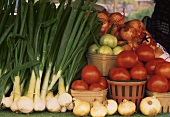 Assorted Vegetables at a Market