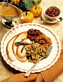 Sliced Turkey Breast with Barley Stuffing