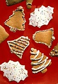 Decorated Gingerbread Cut-out Cookies