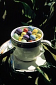 Coffee Cup full of Easter Egg Candies