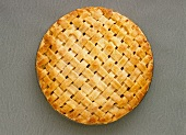Whole Pie with Lattice Pie Crust; From Above