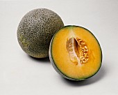 A Whole and a Half Persian Melon