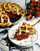 Strawberry-Rhubarb Pie and Slice