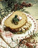 Chicken Salad Sandwich on Whole Wheat